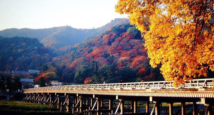Jembatan Togetsukyo Wisata Kawasan Arashiyama Kyoto Jepang