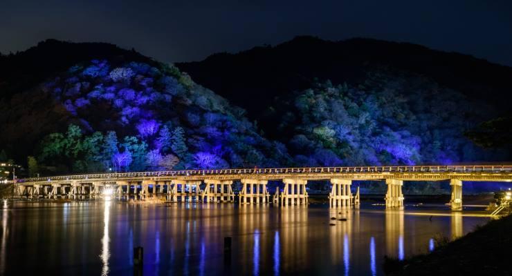 Panorama Jembatan Togetsukyo Kyoto Jepang